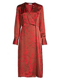 Equipment - Willow Silk Wrap Dress at Saks Fifth Avenue