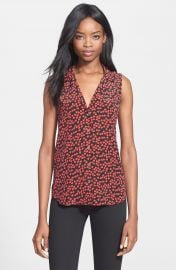 Equipment  Adalyn  Heart Print Sleeveless Silk Top at Nordstrom