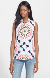 Equipment  Colleen  Geo Print Silk Top at Nordstrom