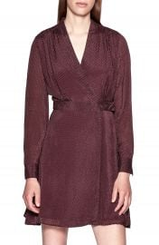 Equipment Allaire Textured Long Sleeve Silk Blend Wrap Dress   Nordstrom at Nordstrom