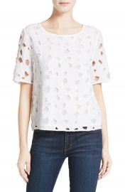 Equipment Brynn Lace Silk Top at Nordstrom