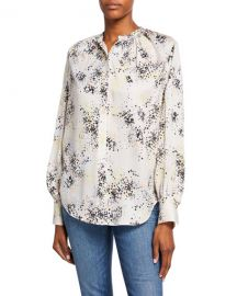 Equipment Causette Printed Silk Blouse at Neiman Marcus