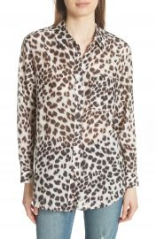 Equipment Daddy Leopard Print Blouse at Nordstrom