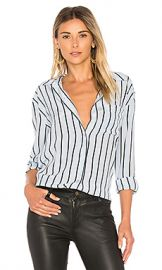 Equipment Daddy Stripe Button Up in Pearl Blue  amp  True Black from Revolve com at Revolve