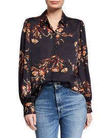 Equipment Danton Floral Button-Down Shirt at Neiman Marcus