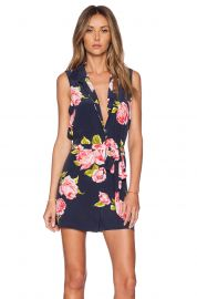 Equipment Earl Boudoir Rose Print Romper at Revolve