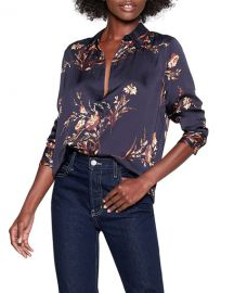 Equipment Essential Floral Button-Down Shirt at Neiman Marcus