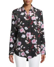 Equipment Essential Garden Party Print Silk Blouse at Neiman Marcus