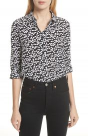 Equipment Essential Heart Print Silk Shirt   Nordstrom at Nordstrom