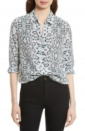 Equipment Essential Python Print Silk Shirt at Nordstrom