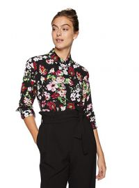 Equipment Floral Symphany Printed Signature Blouse at Amazon
