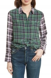 Equipment Holly Colorblock Plaid Silk Shirt at Nordstrom