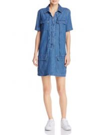 Equipment Knox Lace-Up Denim Dress - 100  Exclusive at Bloomingdales