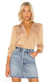 Equipment Leema Blouse in Ocre Multi from Revolve com at Revolve