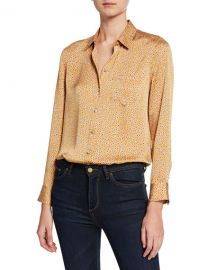 Equipment Leema Floral-Print Button-Down Shirt w  Pocket at Neiman Marcus
