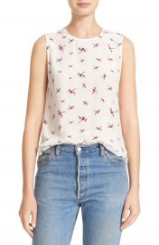 Equipment Lyle Dragonfly Print Silk Top at Nordstrom