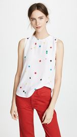 Equipment Lyle Silk Tank at Shopbop
