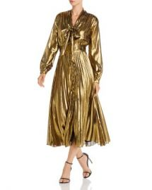 Equipment Macin Metallic Tie-Neck Midi Dress Women - Bloomingdale s at Bloomingdales