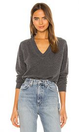Equipment Madalene V Neck Sweater in Heather Grey from Revolve com at Revolve