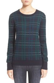 Equipment Ondine Plaid Wool Pullover at Nordstrom