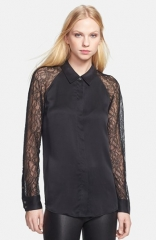 Equipment Quinn Lace andamp Silk Shirt at Nordstrom