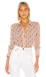 Equipment Sedienne Blouse in Misty Rose from Revolve com at Revolve