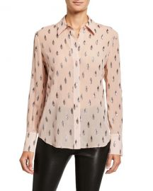 Equipment Sedienne Printed Long-Sleeve Button-Down Shirt at Neiman Marcus