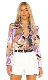 Equipment Sedienne Top in Hyacinth Multi from Revolve com at Revolve