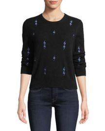 Equipment Shirley Lightning-Bolt Cashmere Sweater at Neiman Marcus
