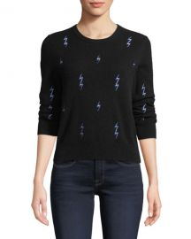 Equipment Shirley Lightning-Bolt Cashmere Sweater at Neiman Marcus
