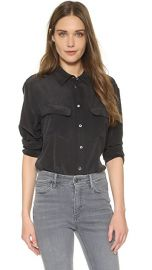 Equipment Signature Blouse at Shopbop