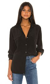 Equipment Signature Blouse in True Black from Revolve com at Revolve