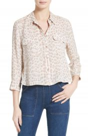 Equipment Signature Crop Silk Shirt at Nordstrom