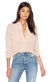 Equipment Slim Signature Blouse in Nude from Revolve com at Revolve