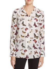 Equipment Slim Signature Butterfly Print Silk Shirt at Bloomingdales