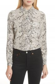 Equipment Slim Signature Python Print Silk Shirt at Nordstrom