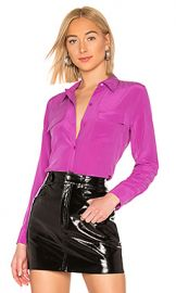 Equipment Slim Signature Top in Vivid Violet from Revolve com at Revolve