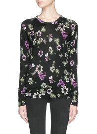 Equipment Sloan Floral Cashmere Sweater at Lane Crawford