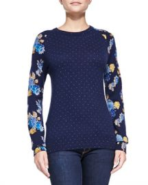 Equipment Sloan Floral Dot Sweater  at Bergdorf Goodman