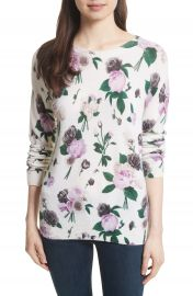 Equipment Sloane Floral Print Cashmere Sweater   Nordstrom at Nordstrom