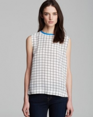 Equipment Top - Kyle Streamline Grid Print at Bloomingdales