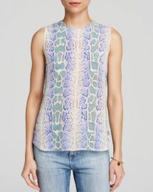 Equipment Top - Lyle Sleeveless Python Print Silk at Bloomingdales