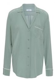 Equipment Washed Silk Pajama Shirt at The Outnet