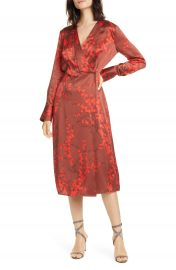 Equipment Willow Faux Wrap Silk Midi Dress   Nordstrom at Nordstrom