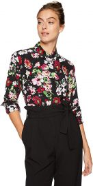 Equipment Women s Floral Symphany Printed Signature Blouse at Amazon