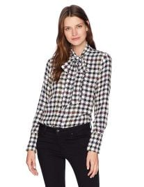 Equipment Women s Scholar Plaid Reverse Satin Luis Blouse at Amazon