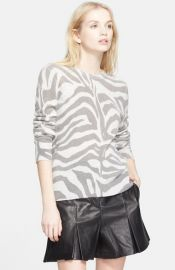 Equipment and39Shaneand39 Zebra Stripe Cashmere Sweater at Nordstrom