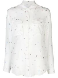 Equipment sheer star print shirt sheer star print shirt at Farfetch