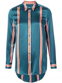 Equipment striped fitted blouse at Farfetch