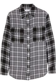 EquipmentandnbspandnbspSignature plaid washed-silk shirt at Net A Porter